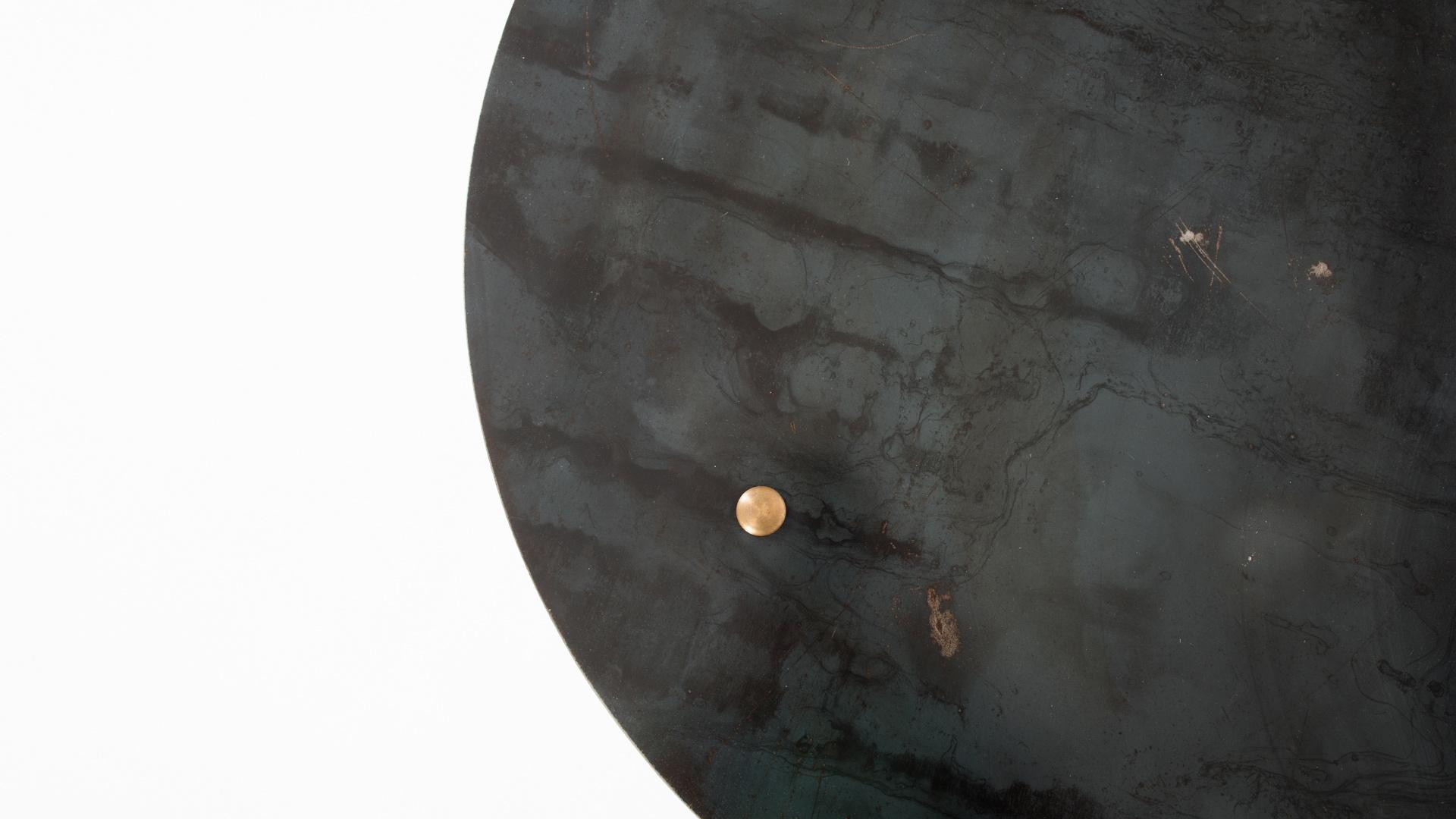 שולחן מודרני עגול קוטר 80 עשוי כולו ברזל